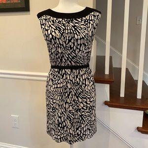 LOFT Black/White Dress